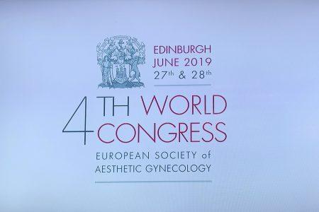 第4回世界会議(ESAG)ヨーロッパ美容婦人科学会 2019.6月27-28日